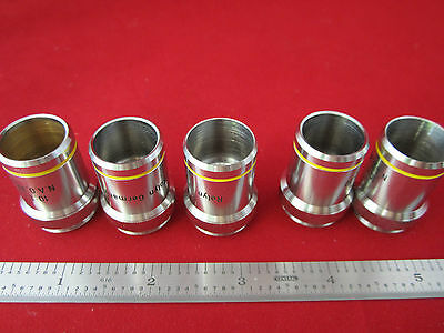 Lot 5 Ea Rolyn Microscope Objective Part Just Shell Without Optics Bin 4