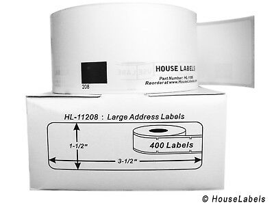 2 Rolls Of Dk-1208 Brother Compatible Large Address Labels