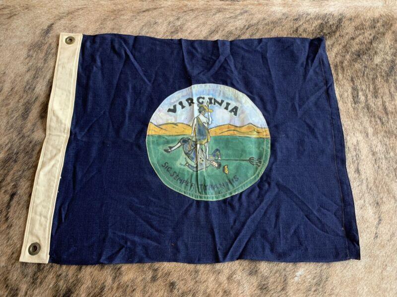 Vintage Hand Painted State Of Virginia Flag