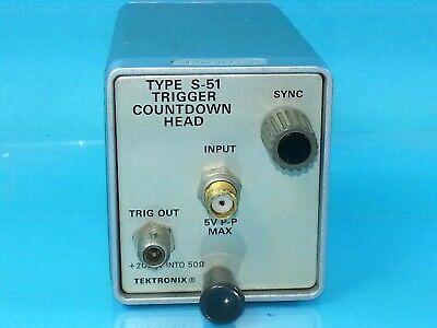 Tektronix S-51 Sampling Head 7000 Series Oscilloscope Plug In