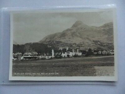 POSTCARD: GLEN COE AND GLEN COE HOTEL,SCOTLAND