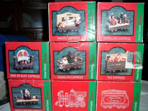 JC Penny Home Towne Express Christmas Train Cars 1998 Edition 8 Cars RARE