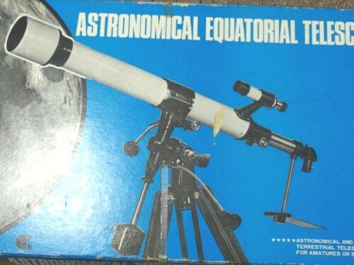 TELESCOPE - ASTRONOMICAL ROYAL ASTRO OPTICAL (?) - EXCELLENT w/ HEAVY TRIPOD