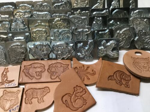 SELECT LOT#02  Vtg Craftool Co USA 2-3D Leather stamp, Flat Rate shipping
