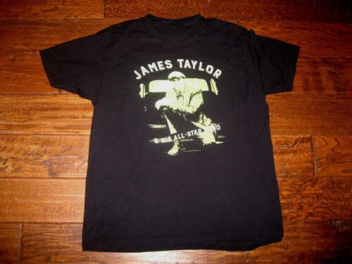 Mens Official James Taylor and His All-Star Band Concert Tour Black T-Shirt L