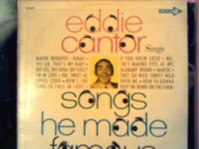 Eddie Cantor sings Songs He Made Famous...Decca Rainbow Mono DL 4431 LP Eddie Cantor Songs
