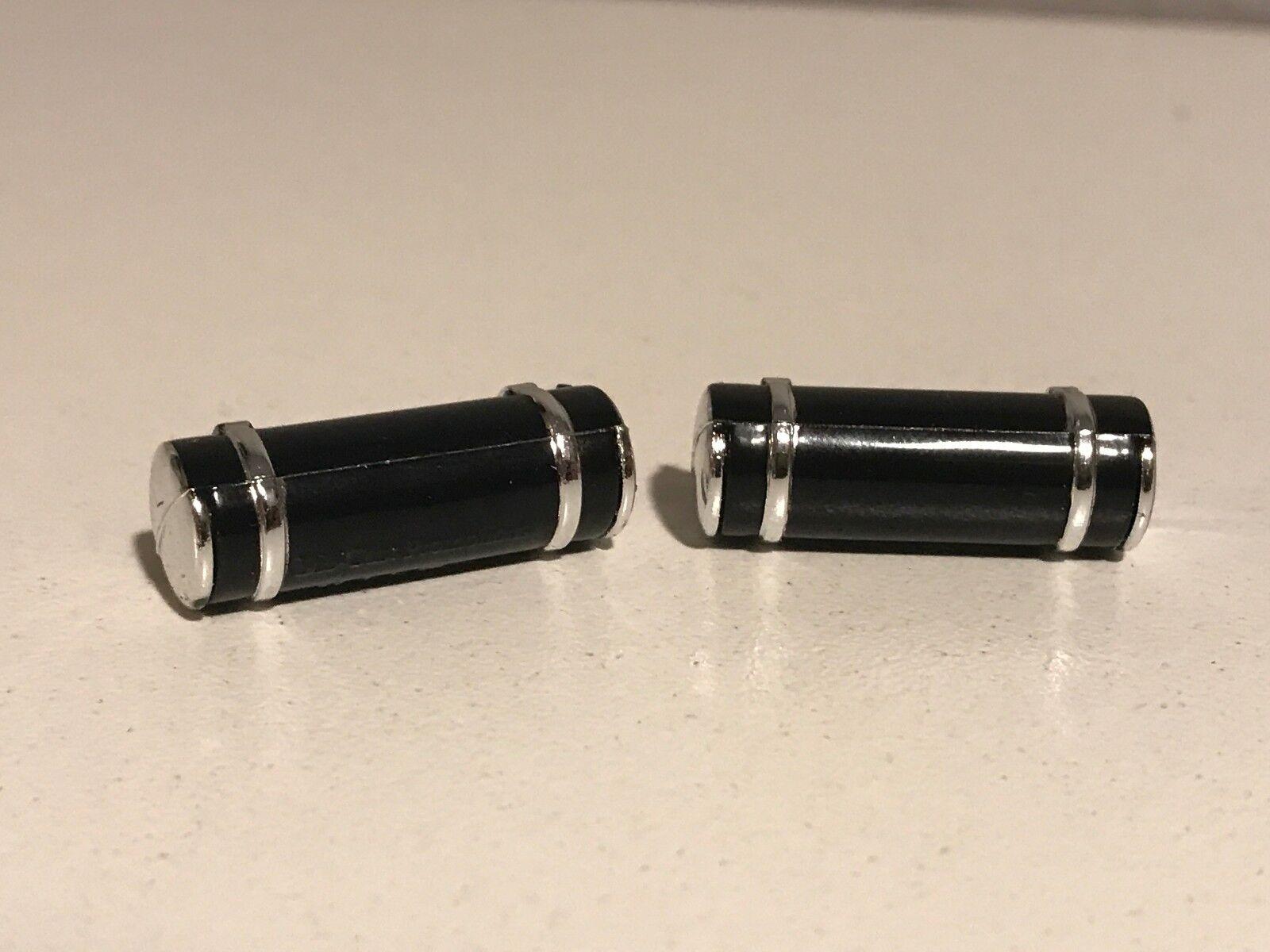 ALL BLACK DCP 1/64 379/389 PETERBILT LONG TANKS W/ 2 CHROME STRAPS & ENDS