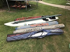 Windsurfing  board sails boom mast etc Collingwood Park Ipswich City Preview