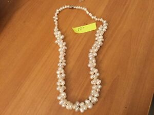 Necklace freshwater river pearls from Peru 18 inches multistrand
