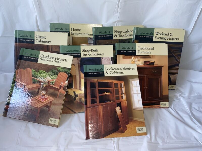 Woodsmith Custom Woodworking 9 books Oxmoor House