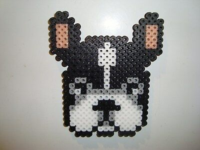 Dog Perler Bead French Bulldog Handmade Fridge - Perler Bead Dog