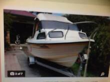 HALF CABIN 15FT WITH 75 MERCURY 97 MODEL MOTOR Chester Hill Bankstown Area Preview