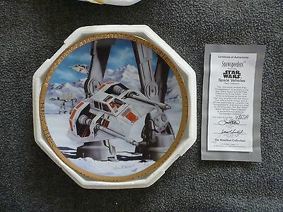 Star Wars Snowspeeder Collector's Plate by Hamilton Collection