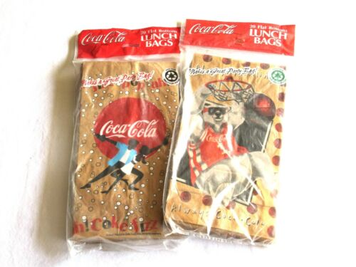 40 Always Coca Cola Basketball Paper Lunch Bags Polar Bear 1996 1999 Dance Coke