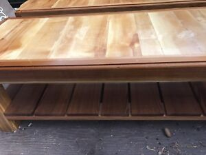 Cedar handcrafted coffee table