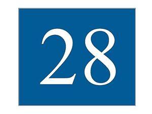 plaque ou etiquette numero boite aux lettres bleu fonce 60x50mm ebay. Black Bedroom Furniture Sets. Home Design Ideas