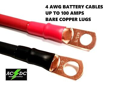 4 awg Copper Battery Cable Power Wire Car, Marine, Inverter, RV, Solar, Carts Marine Inverter