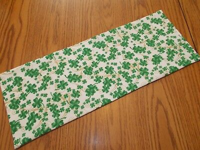 Shamrock Table Decorations (Handmade shamrock decor vines MINI table runner toilet tank topper white)