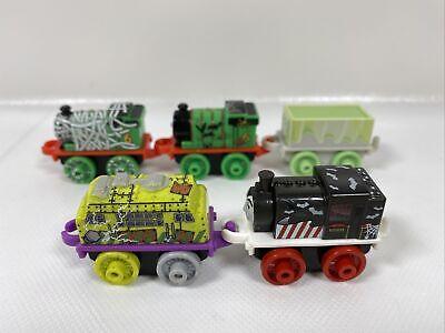 Thomas & Friends Spooky Lot Of 5 Mini Trains - Percy, Porter, Diesel 10, Trouble