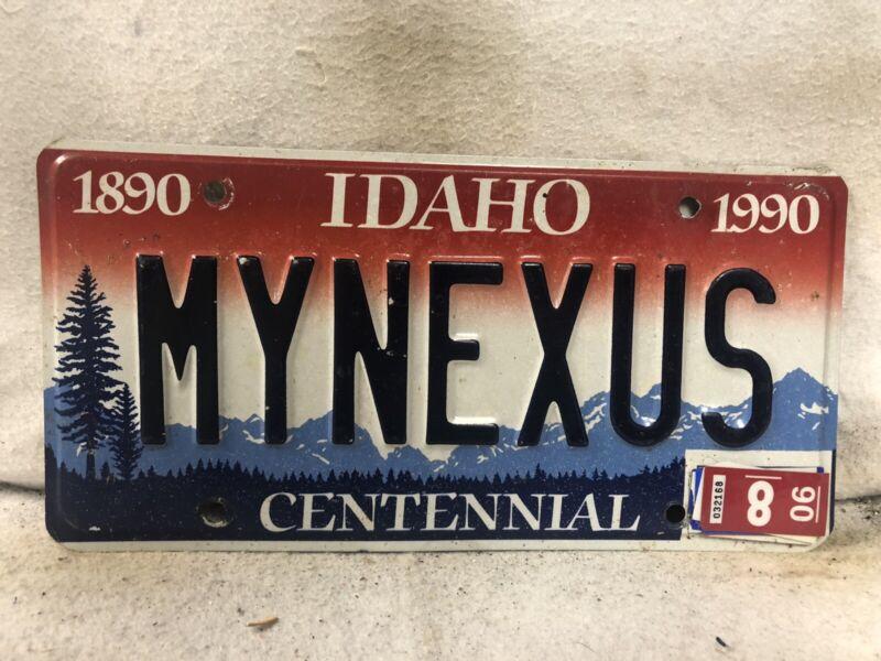 "2006 Idaho Vanity License Plate ""MYNEXUS"""