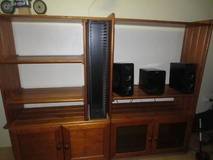 Solid pine entertainment unit