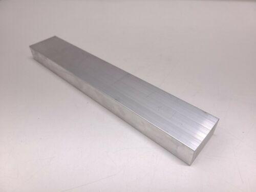 "6061 Aluminum Flat Bar, 1 x 2 x 12"" long, Solid Stock, Plate, Machining, T6511"