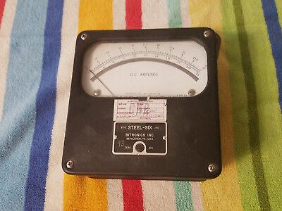The Steel Six Line  Dc Ampere Meter Bitronics Inc. 0-25 Amp Dc