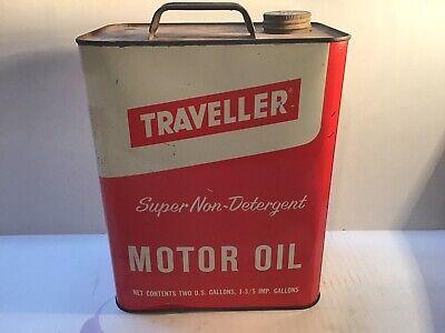 Vintage Traveller 2 Gallon Oil Can Metal Gas Rare Handy Sign Tin Texaco Sinclair