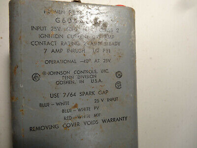 Johnson Controls G60aag-3 Proven Pilot Ignition Control ----used