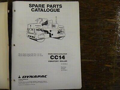 Dynapac Cc14 Vibratory Compactor Asphalt Tandem Roller Parts Catalog Manual