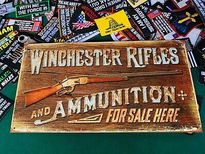 Western Winchester Vintage Poster Posters, Wood /& Metal Signs Pursell Woods