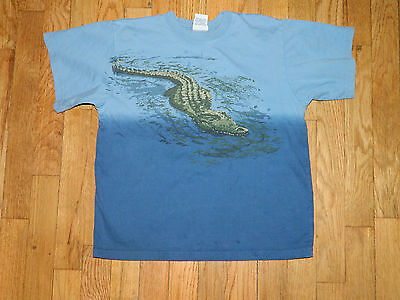 EUC Tumbleweed alligator crocodile lizard shirt blue boys 10 (fits like an 8) on Rummage