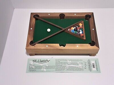 Siam Mandalay Mini Tabletop Billiards Game - Wooden Portable