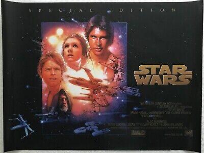 Star Wars A New Hope Special Edition Original Quad Poster 1997 Drew Struzan Art