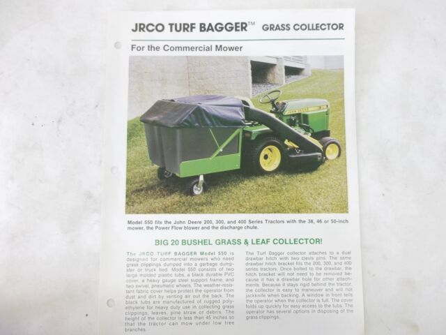 JRCO 550 Turf Bagger Brochure for John Deere 100 2