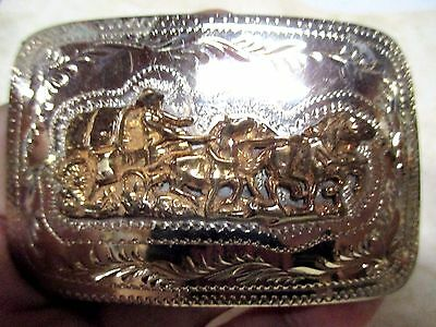 New Old Store Stock 4 Horse Stage Coach  Hand Made In Wyo Belt Buckle Make Offer