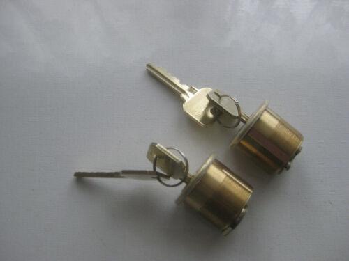 LOT of 2 NEW Rim Lock Cylinders MARKS WITH 2 KEYS HEAVY DUTY