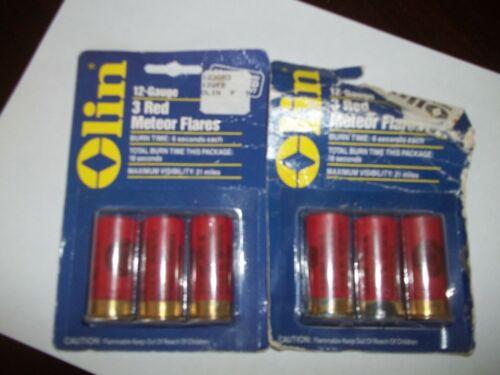 OLIN Red Meteor Flares, 2 Three packs