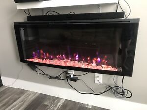 Colour Changing Wall Mount Electric Fireplace