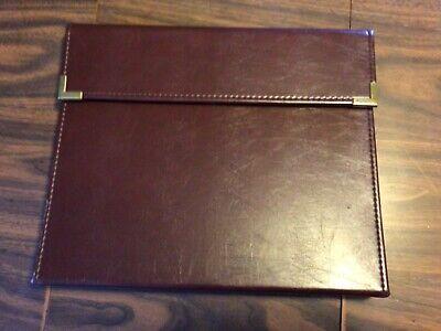 Cambridge Faux Leather Business Portfolio Folder Notebook Holder 3 Ring Brown