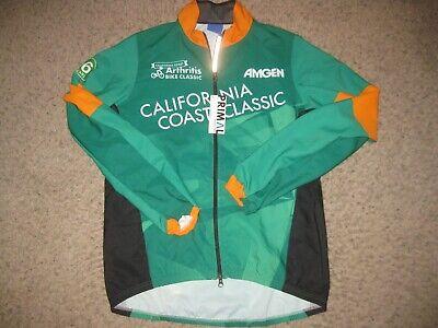 Piu Miglia Hi Viz Mens Cycling Jacket Full Zip Lightweight Reflective Bike Cycle