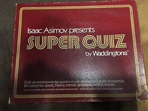 Super Quiz and Outburst II Board Games
