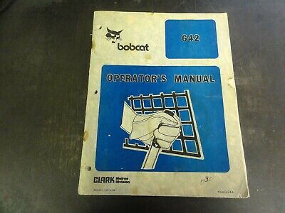Bobcat 642 Loader Operators Manual  6556852