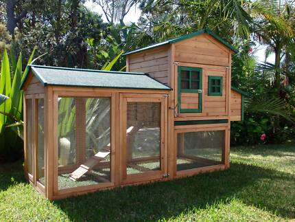 Chicken coop Somerzby Super Mansion Rabbit Hutch Cage Afterpay
