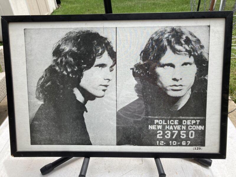 The Doors Jim Morrison Arrest Photo 12-10-67 framed