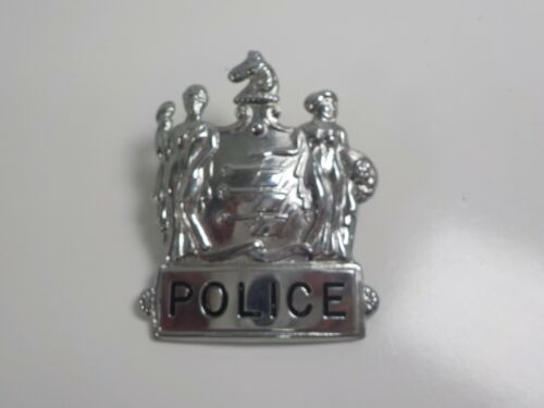Vintage Obsolete New Jersey State Seal Police  Badge