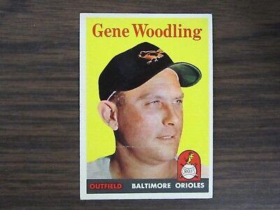 1958 Topps # 398 Gene Woodling Card Baltimore Orioles
