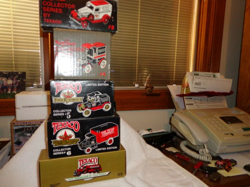 Vintage Texaco Ertl Collector Truck Banks #3 Thru #6