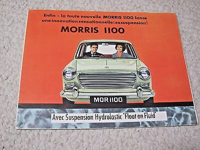 1960's MORRIS 1100 (UK) SALES BROCHURE !!!