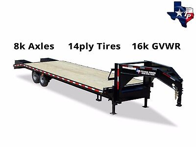 Brand New Texas Pride 8 12 X 25 205 Gooseneck Equipment Trailer 16k Gvwr